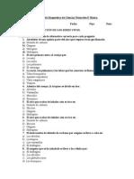 Diagnóstico ciencias 6°