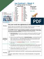 Spelling Contract Week 3 - 2014 to 2015 - Journey