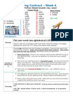 Spelling Contract Week 4 - 2014 to 2015 - Journey