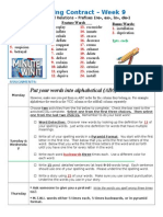 Spelling Contract Week 9 - 2014 to 2015 - Derivational Relations