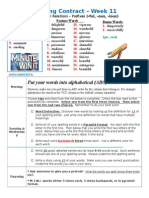 Spelling Contract Week 12 - 2014 to 2015 - Derivational Relations