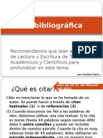 La Cita Bibliográfica