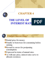 the level of interest rates chapter 4