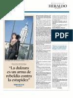 """""""La dulzura es un arma de rebeldía contra la estupidez"""" - Entrevista a Irene Vallejo (Heraldo de Aragón)"""