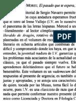 El pasado que te espera (Irene Vallejo) - Reseña Vicente Ramón - Revista de Estudios Clásicos