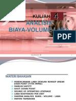 4 Analisis Biaya – Volume - Laba