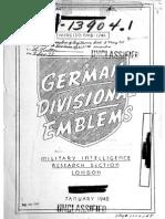 German Divisional Emblems USA 1945