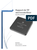 Rapport de TP Microcontrôleur