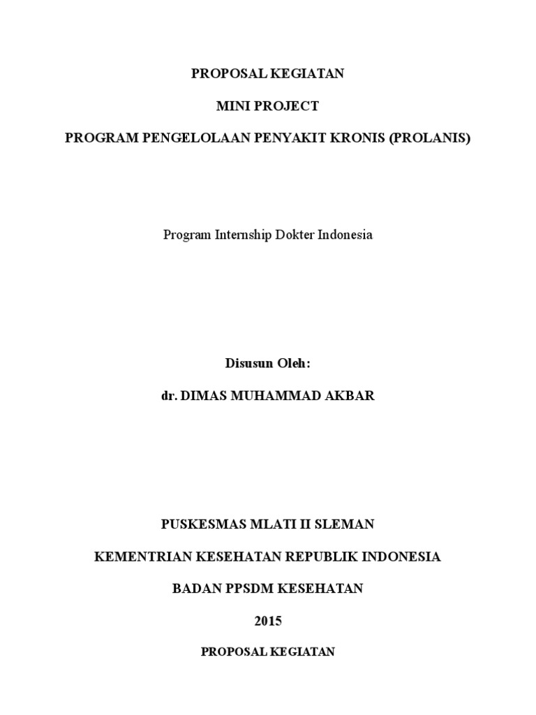 Proposal Kegiatan Prolanis