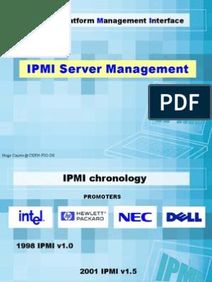 Ipmi Server Management | Computer Standards | System Software