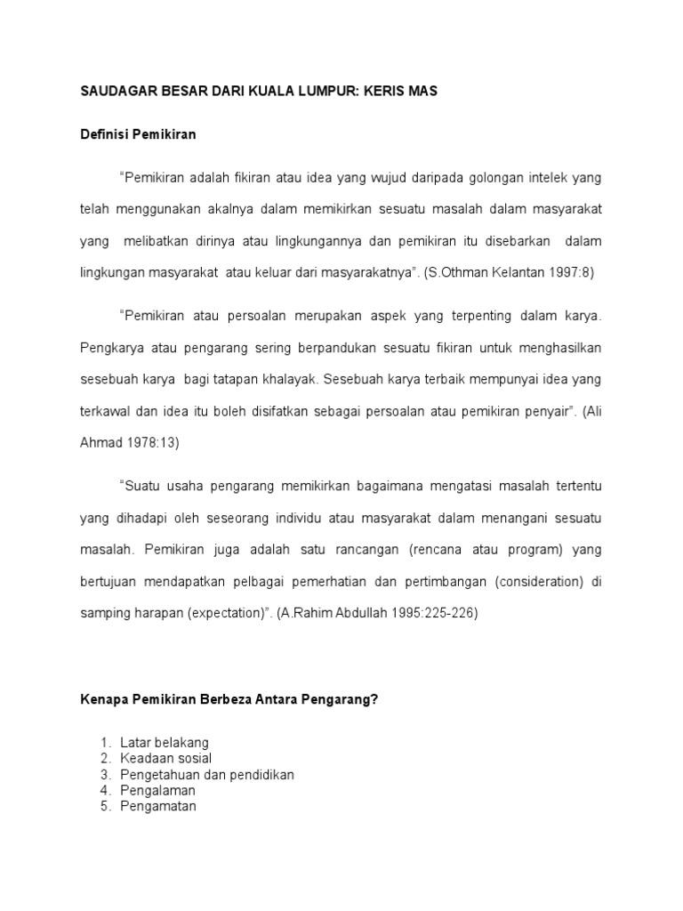 Saudagar Besar Dari Kuala Lumpur Docx