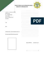 Form Pendaftaran Calon Pengurus Himasapta 2015
