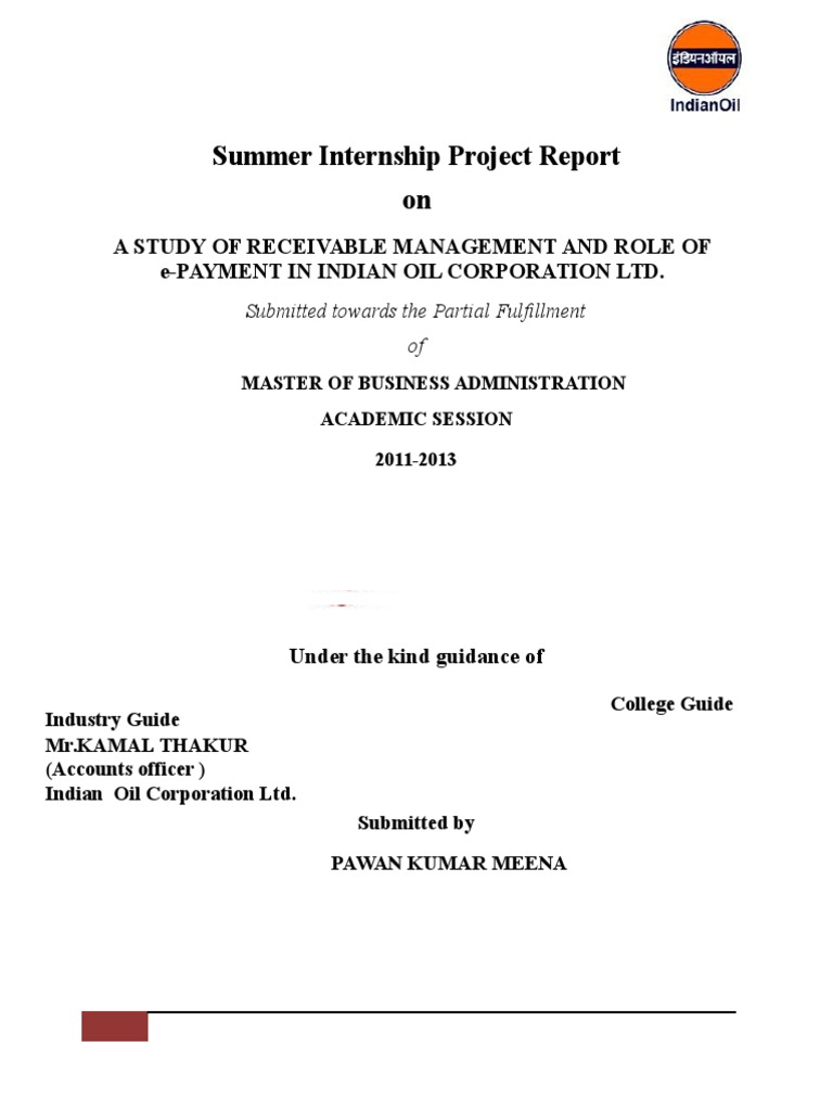 Summer Internship Project Report 1 (1) | Collection Agency