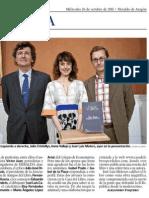 """""""El miedo en las relaciones humanas"""" - Noticia de la presentación de La luz sepultada (Irene Vallejo) - Heraldo de Aragón"""