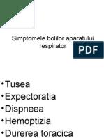 6)Simptomele Bolilor Aparatului Respirator