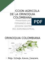 Produccion Agricola de La Orinoquia Colombiana