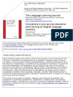 Innovations in pre-service education and training for English language teachers