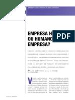 Empresa Humana Ou Humano Empresa