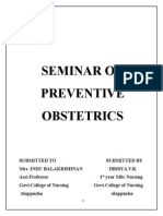 Seminar on Preventive Obstetrics