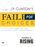 Hillary Clinton's Failed Choices