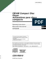 Sony Cdx r5610