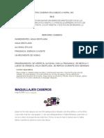 Recetas Caseras Aplicables a Nopal Inc
