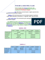 Latín - Adjetivos de 2ª Clase