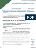 La Columa de Bayly La Plata Llega Sola - Perú 21