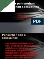 Konsep Pemenuhan Kebutuhan Seksualitas
