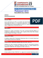 Reglamento Campeonato Sudamericano Sub-17-Paraguay 2015