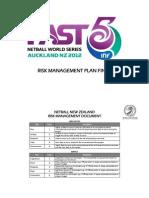 Risk Management Plan Sample