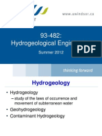 Hydrogeology Lecture 1