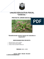 Proyecto Jardin Escolar