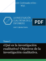 LA INVESTIGACIÓN CUALITATIVA EN EL ÁMBITO ENFERMERO