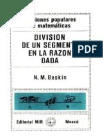 Division de Un Segmento en La Razon Dada