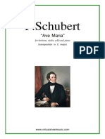 34 - F. Schubert - Ave Maria (Baryton, Piano, Violin & Cello)
