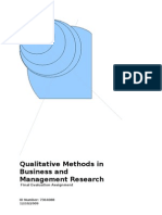Qualitative Methods in Research