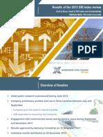 2013 SRI Index Results Presentation