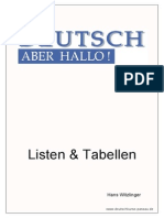 Listen Tabellen