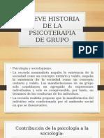 Breve Historia de La Psicoterapia de Grupo
