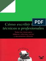 [Guias Del Escritor 15] Dintel, Felipe - Como Escribir Textos Tecnicos o Profesionales [20382] (r1.0)