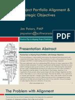 Project Portfolio Alignment & Strategic Objectives (SB)