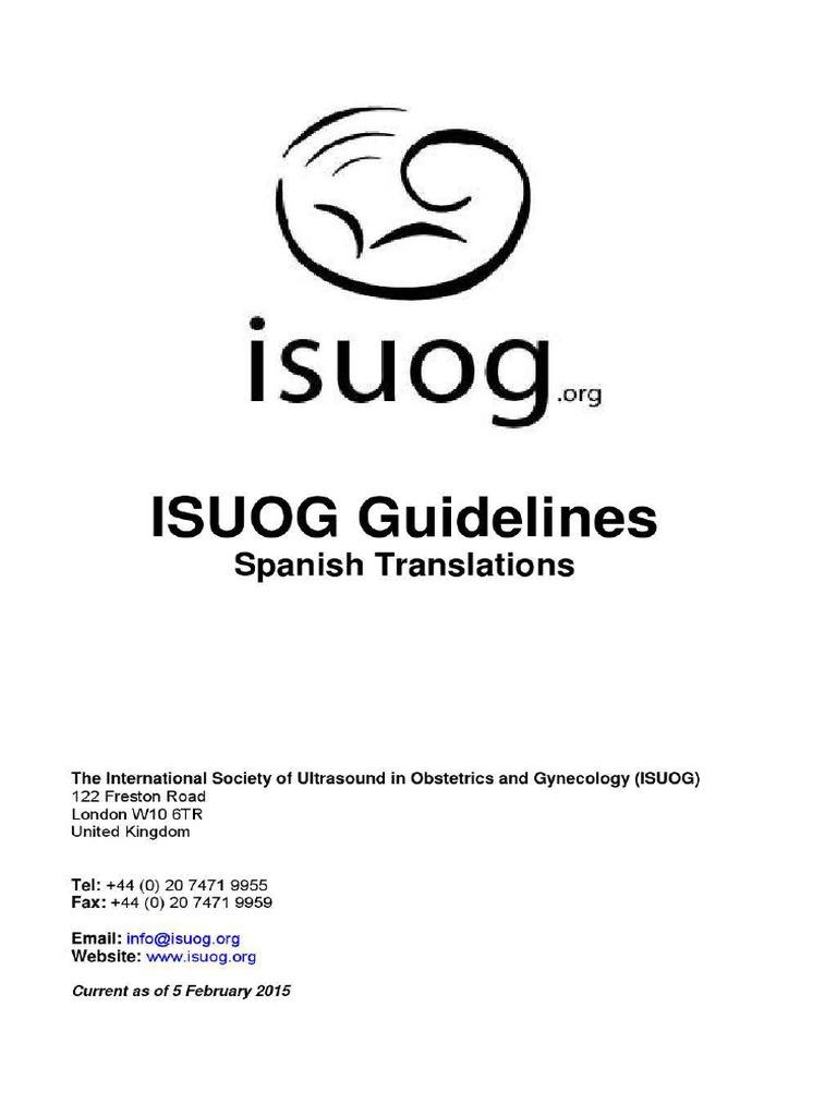 Guia Isuog de ginecologia y obstetricia
