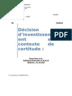Choix D_investissement en Contexte de Certitude 2