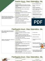 Planificación Anual 2015 Area matematicas 5 y 6to grado