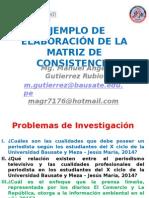 Ejemplo de Elaboracion de La Matriz de Consistencia