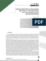 Assinaturas Electrónicas, Documentos Electrónicos e Garantias Reais