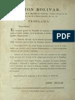 Proclama del Libertador Simón Bolívar 1819