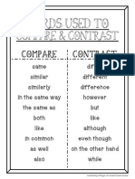 words used to compare and contrast
