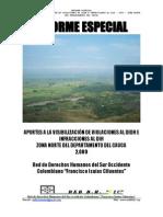 Informe Especial Final 2009 v e i Didh y Dih Zona Norte Del Cauca
